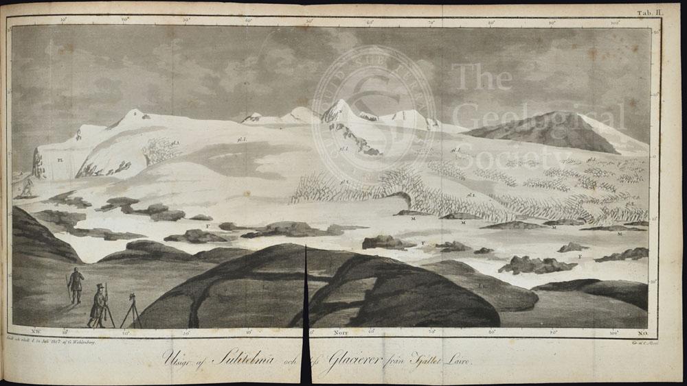 Utsigt af Sulitelma och dess glacierer från fjället Lairo (1807)