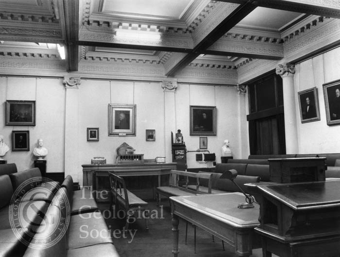 Meeting Room of the Geological Society, 1972