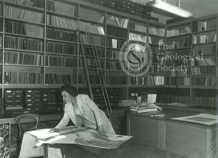 New Library Map Room, Geological Society, 1972