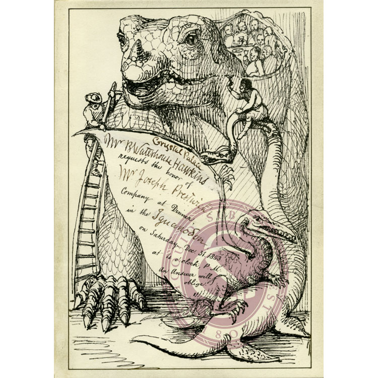 Invitation to the Dinner in the Iguanodon, Crystal Palace