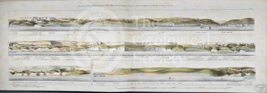 'Geological view of the coast from Lyme Regis…to Axmouth Harbour…'