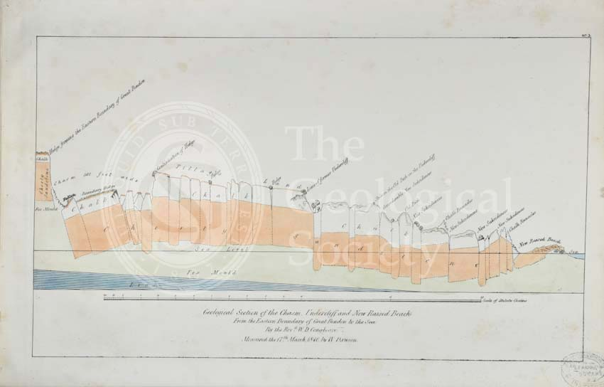 'Geological section of the Chasm, Undercliff and New Raised Beach from the Eastern boundary of Great Bindon to the sea'