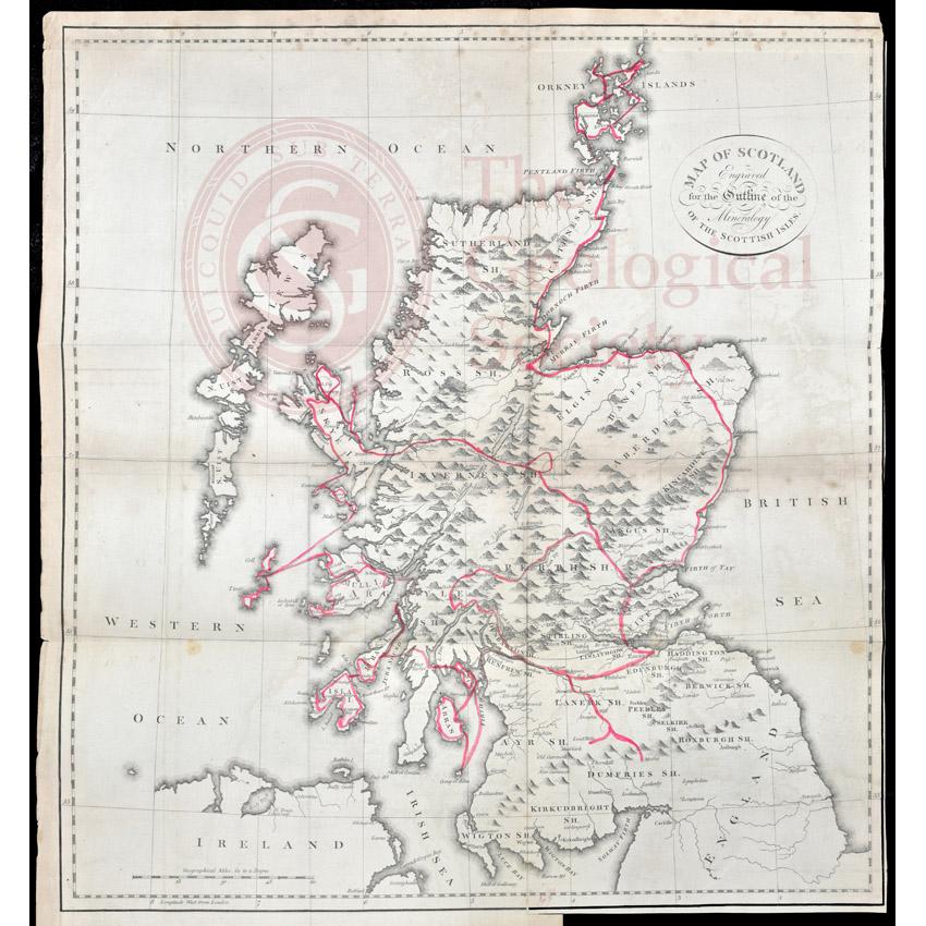 Jameson's outline map of Scotland(1800)